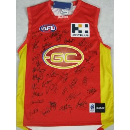 2011 Goldcoast Inaugural SUNS Jersey Hand Signed x 37