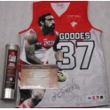 ADAM GOODES Official Limited Edition Hand Signed Jersey  12/100 HUGE SIGNATURE
