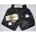 Floyd 'Money' Mayweather Manny Pacquiao  Hand Signed Boxing Trunks & Glove Both PSA