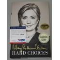 HILLARY RODHAM CLINTON Hand Signed Book + PSA/DNA  COA