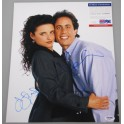 "Jerry Seinfeld & Julia Louis Dreyfus  Hand Signed 11"" x 14"" Photo + PSA/DNA"