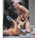 Georges 'Rush' St Pierre  & BJ Penn Hand Signed 11'x14' Colour Photo + JSA COA
