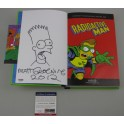 MATT GROENING Hand Signed + HUGE SKETCH Radio Active Man Book + PSA DNA COA