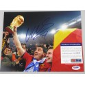 David Silva Hand Signed Spain World Cup  8'x10' Photo + PSA/DNA Coa