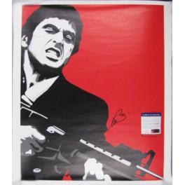 "AL PACINO 'Scarface' Hand Signed 18""x22"" Canvas FULL SIGNATUR + PSA/DNA COA"