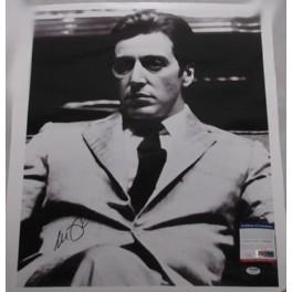 """AL PACINO 'God Father' Hand Signed 18""""x22"""" Canvas FULL SIGNATUR + PSA/DNA COA"""