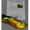 Neymar Jr Hand Signed Gold Soccer Boot + PSA/DNA