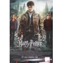 "Daniel Radcliffe Hand Signed Huge 40""x27"" Movie Poster HARRY POTTER & DEATHLY HALLOWS Part 2 + PSA/DNA  COA"