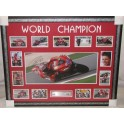 Casey Stoner 2011 Moto GP Champion FRAMED & Hand Signed Panoramic