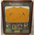 Harry Kewell Hand Signed & Framed Australia  Jersey + Photo Proof