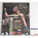 "Ronda Rousey *RARE FULL 'ROWDY' SIGNATURE*  Hand Signed 11"" x 14"" Photo  + PSA/DNA Coa"