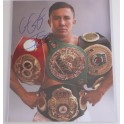 "GGG Gennady Golovkin Hand Signed 11"" x 14"" Colour Photo 3 + COA"