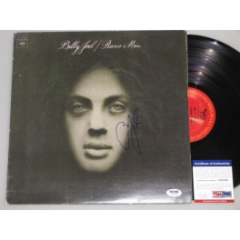 Billy Joel 'Piano Man'  Hand Signed LP + PSA DNA COA
