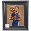 "STEPHEN CURRY Hand Signed & Framed Golden State 11""x14"" Photo +   PSA DNA"