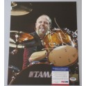 "METALLICA 'LARS ULRICH' Hand Signed 11""x14"" Photo 2 + PSA DNA COA"