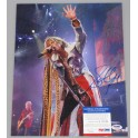 "Steve Tyler Aerosmith Hand Signed 11"" x 14"" Photo 1 + PSA/DNA"