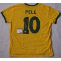Pele Hand Signed Brazil  Jersey +  PSA/DNA