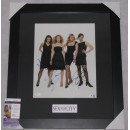"""Sex In The City  Cast x 4 Hand  Signed & Framed  11"""" x 14"""" Colour Photo  + JSA  COA"""