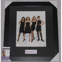 "Sex In The City  Cast x 4 Hand  Signed & Framed  11"" x 14"" Colour Photo  + JSA  COA"
