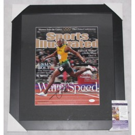 "Usain Bolt Hand  Signed & Framed  11"" x 14"" Colour Photo  + JSA  COA"