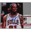 "Dennis Rodman Hand Signed 8""x10"" Photo + JSA COA"