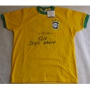 Pele Hand Signed Brazil  Jersey With Inscription  +  PSA/DNA Beckett COA