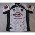 2011 Brisbane Broncos Away Jersey 2 Hand Signed 0 LOCKYS LAST YEAR