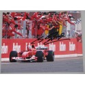 "Michael Schumacher Hand Signed 8""x10""  Colour Photo 3 + COA"