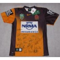 2014 Brisbane Broncos Away Jersey 3  Hand Signed
