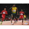 "USAIN BOLT Hand Signed 2016 8""x10"" Photo 3 + Beckett /  PSA DNA COA"