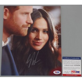 MEGHAN MARKLE Hand Signed 8'X10' Photo  PSA-COA Duchess Of Sussex Prince Harry