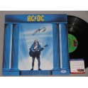 ACDC Angus Young  Hand Signed LP Who Made Who + PSA DNA COA