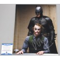 "CHRISTIAN BALE 'Batman'   Hand Signed 11"" x 14"" Photo + PSA/DNA BECKETT COA Heath Ledger"