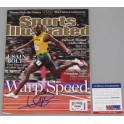 USAIN BOLT Hand Signed Sports Illustrated + Beckett /  PSA DNA COA