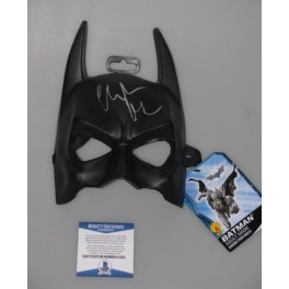 Batman Christian Bale Hand Signed Mask   + PSA DNA Beckett COA