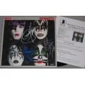 KISS x 4 Original Members Hand Signed 'Dynasty' Lp   + Beckett PSA COA   BUY GENUINE