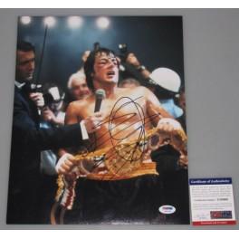 "Sylvester Stallone Rocky   Hand Signed 11""x 14"" Photo + PSA/DNA COA"