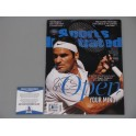 Roger Federer  Hand Signed Sports Illustrated PSA DNA Beckett COA