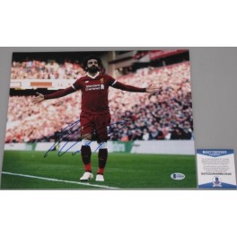 "Mo Salah Mohamed Hand Signed 11"" x 14"" PSA Colour Photo1 Liverpool  Egypt"