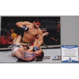 "JORGE 'GAMEBRED' MASVIDAL  Hand Signed 8"" x 10"" Photo  + PSA BAS Coa"