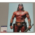 "ARNOLD SCHWARZENEGGER 'CONAN'  11""x 14""  Signed Photo + PSA/DNA COA"