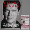 ARNOLD SCHWARZENEGGER Hand Signed Book Total Recall  + JSA COA *BUY GENUINE*