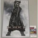 "Wesley Snipes 'Blade'  Hand Signed 12"" x 18"" Photo + PSA/DNA BECKETT COA"