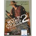 "Wolf Creek 2 JOHN JARRATT Hand Signed 12"" x 18"" Colour Photo +  Beckett COA 'Inscribed'  MICK TAYLOR"