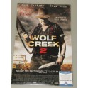 "Wolf Creek 2  JOHN JARRATT Hand Signed 12"" x 18"" Colour Photo 2 +  Beckett COA 'Inscribed'  MICK TAYLOR"