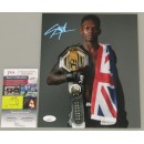 Israel Adesanya Hand Signed 8'x10' Photo 2 UFC + JSA COA
